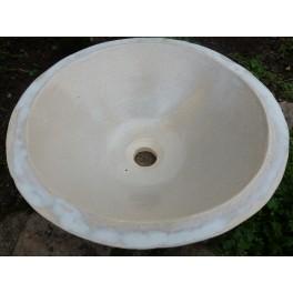 LA POMPADOUR vasque en Grès BLANC/GRIS
