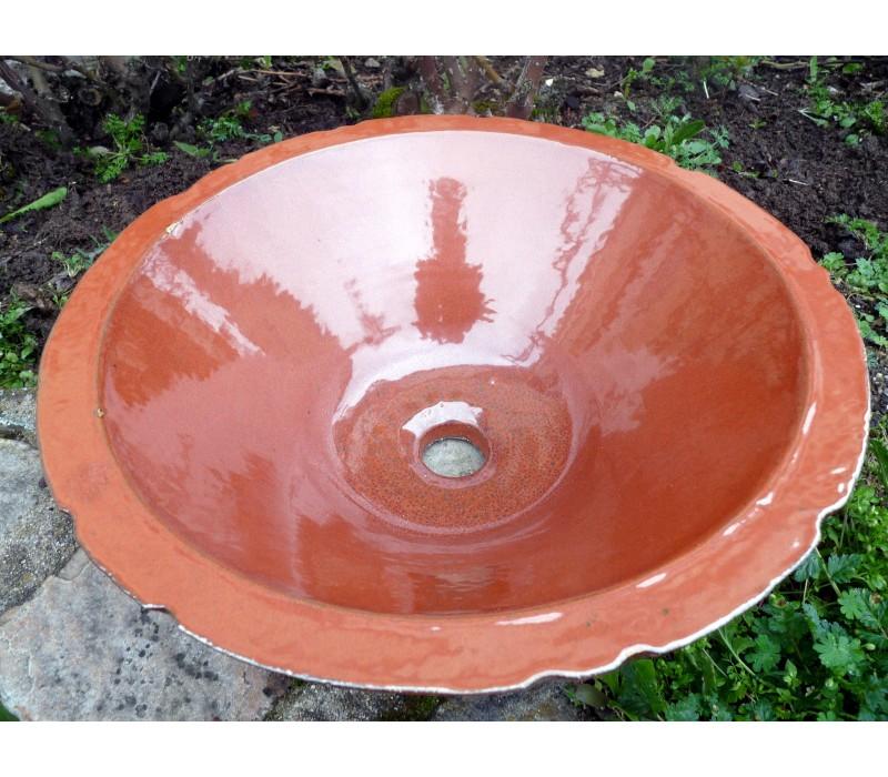 Vasque En Gres ... La Pompadour Vasque En Grès Rouille Orange ...