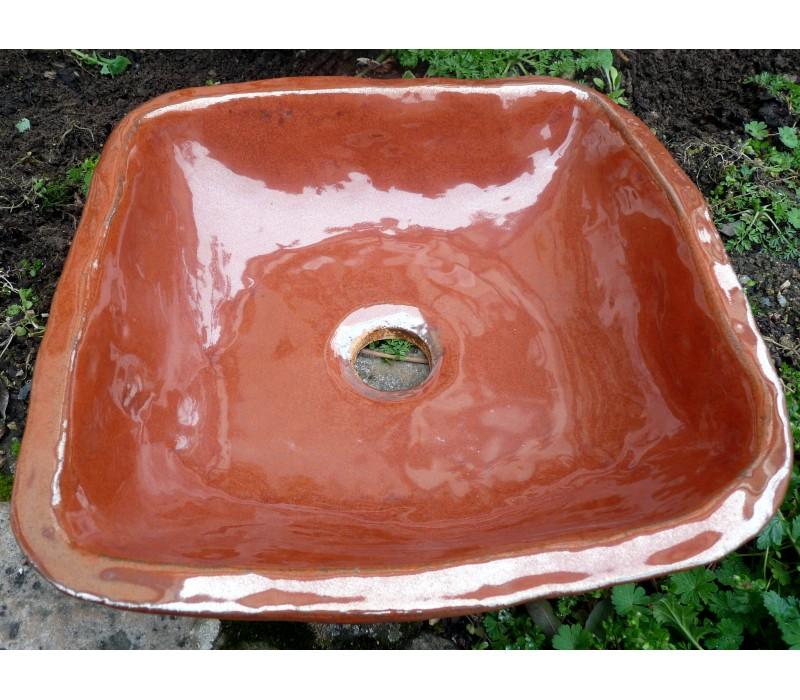 vasque en gres LA COMTESSE DE SEGUR vasque en Grès orangé ...