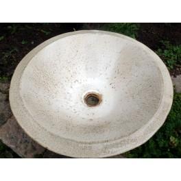 LA POMPADOUR vasque en Grès Léopard greige