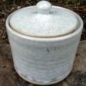 Pot à coton droit blanc, en grès